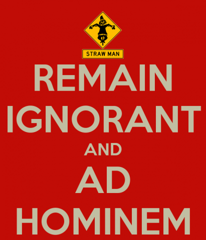 remain-ignorant-and-ad-hominem
