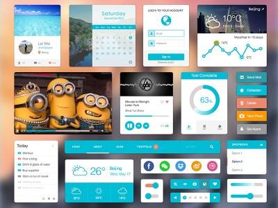Flat UI Elements Sketch freebie - Download free resource for Sketch - Sketch App Sources