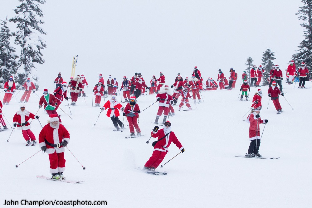 Whistler Blackcomb Skiing Santas