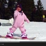 The youngest snowboarder ever?