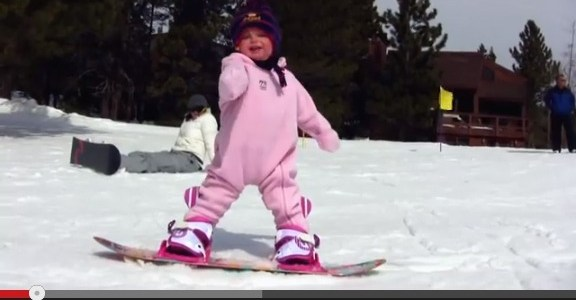 the youngest snowboarder ever