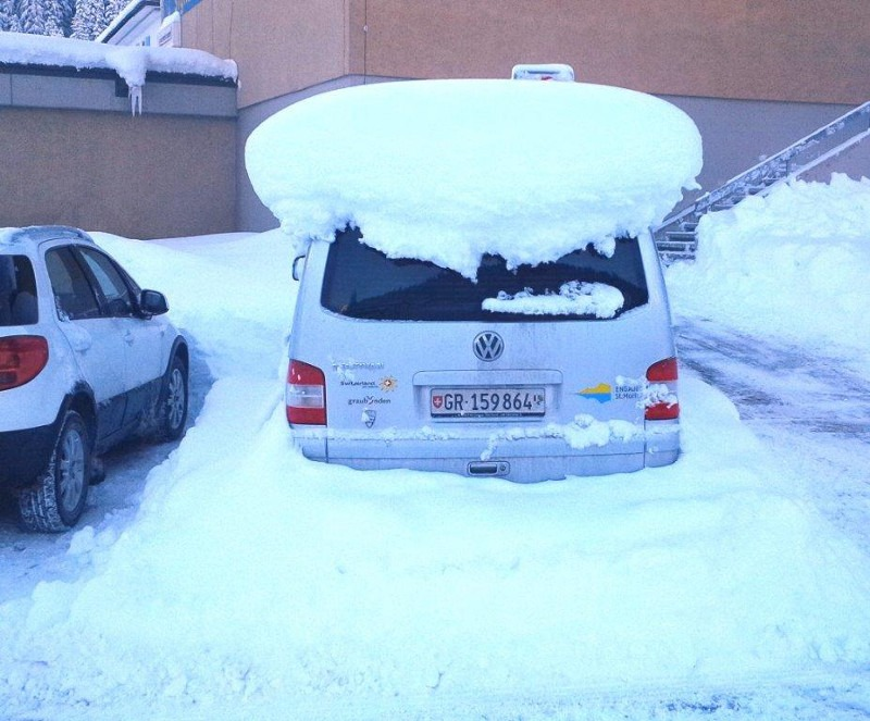 Two feet of snow in St. Moritz, St, Moritz snow storm,