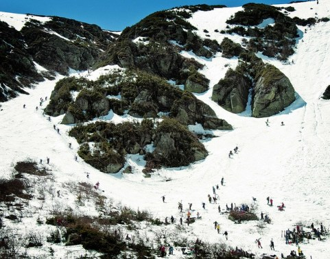 Spring skiing at Tuckerman Ravine