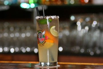 Hot, cold, spicy and sweet, the Mangy Moose's Spicy Margarita defies definition.