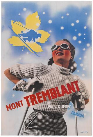 Mont Tremblant Vintage Ski Poster