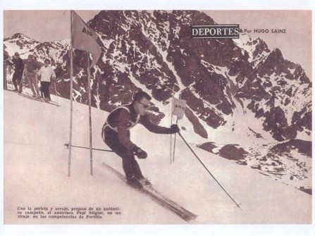 Ski racer Portillo 1966