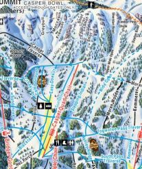 A world-class collection of blue runs are at your fingertips from the Casper lift.   Photo: Jackson Hole Mountain Resort