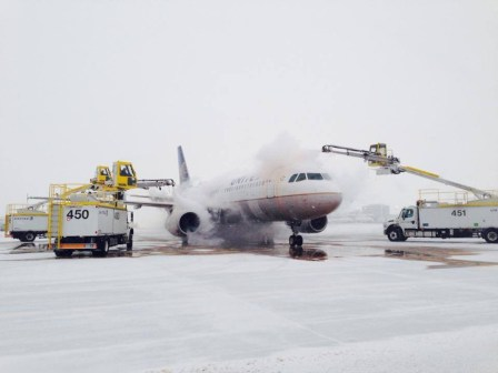 Mother Nature doesn't always coorperate with your ski-vacation plans. | Photo: Denver International Airport