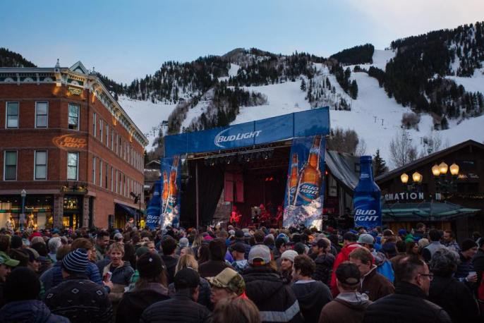The Bud Light Hi-Fi Series features a free downtown Aspen Core Party on March 26. Performer details coming soon. | Photo: Jeremy Swanson/Aspen Snowmass