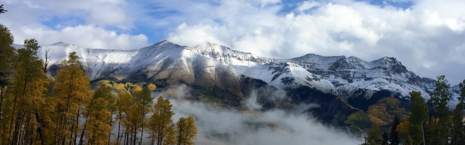 Telluride showing off its autumn drama on Sept. 23| Photo: Telluride Ski Resort