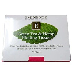 Eminence Organics Green Tea & Hemp Blotting Papers | Skincare by Alana | Eminence Organics Tips