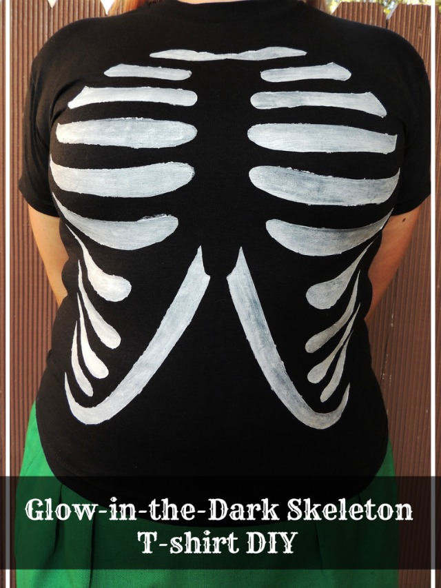Glow in the Dark Skeleton T-Shirt DIY with Tulip Fabric Paints!