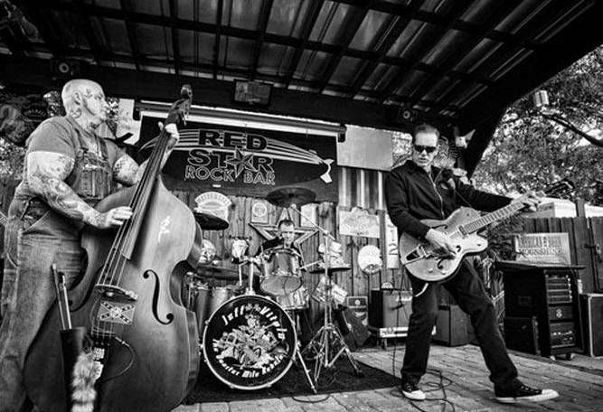 Jeff Vitolo and the Quarter Mile Rebels Black and White Cover Photo
