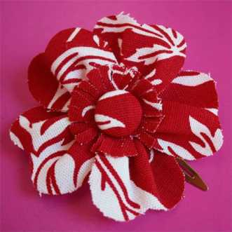 Fabric Flower Hair Clip