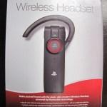 Caixa do Headset Bluetooth Wireless Oficial do Playstation 3