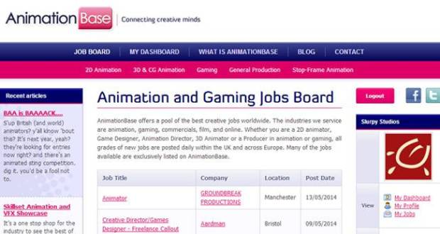 Animation Base is one of many job posting websites you should be checking out