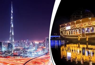 Dubai City Tour | Dhow Cruise Dinner | Skyland Tourism