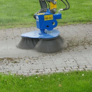 Slanetrac RB80 Block Paving Brush Cleaner Mini Digger Attachment EU