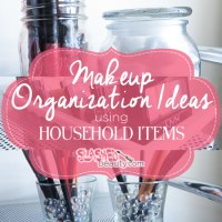 Makeup Organization Ideas using Household Items