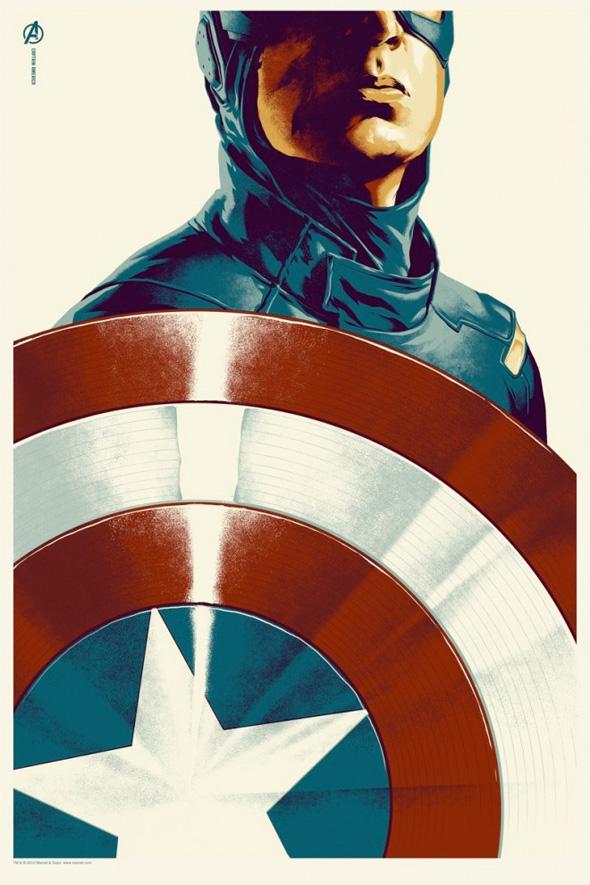 Avengers Mondo Poster - Captain America