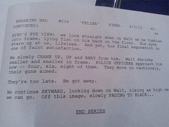 Breaking Bad Finale Script 2