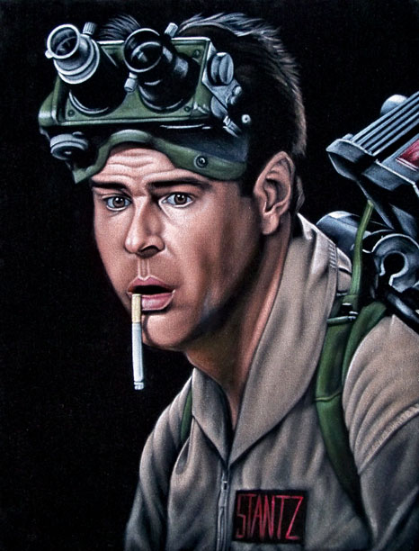 """Bruce White """"Ray"""" (Ghostbusters) - THIS IS ON BLACK VELVET"""