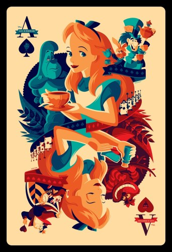 Cyclops Print Works X Mondo Print #13V - Alice in Wonderland Dormouse Variant Edition D23 (front) by Tom Whalen