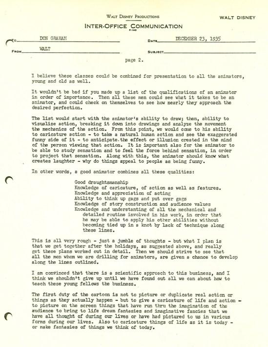 Walt Disney Letter 2