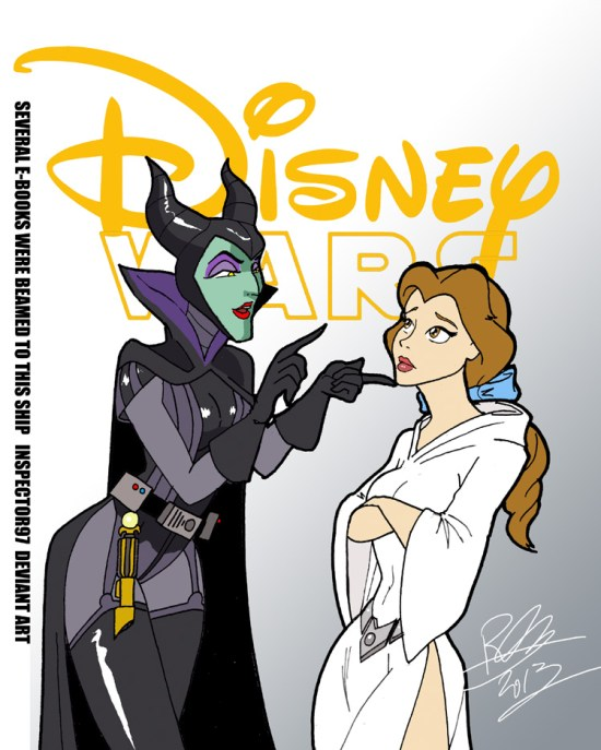 Disney Wars Darth Maleficent and Princess Belle