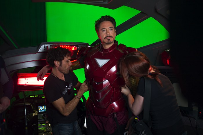The Avengers set behind the scenes