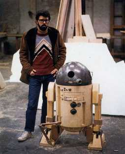 George Lucas on Star Wars set