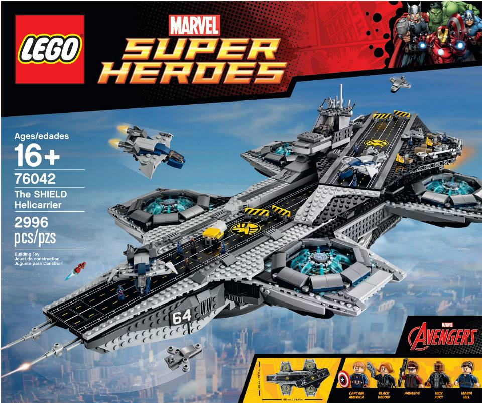 The Brick Fan posted these images of the Lego Avengers Helicarrier. It ...