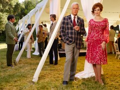 Mad Men Season 7 garden party - Roger and Joan