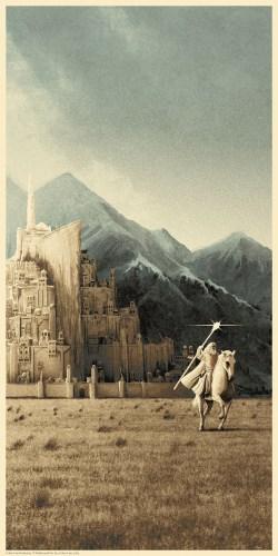 Matt Ferguson's Lord of the Rings Trilogy Print Set bagend minas