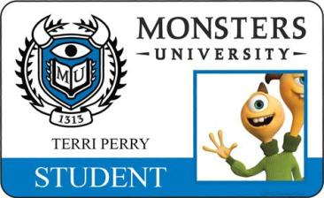 Monsters University ID - Terri