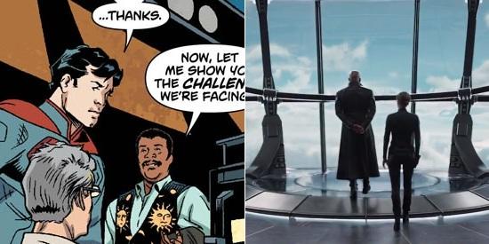 Neil deGrasse Tyson in Superman / SHIELD Helicarrier