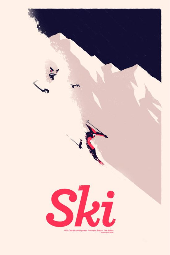 Olly Moss - SkiFree