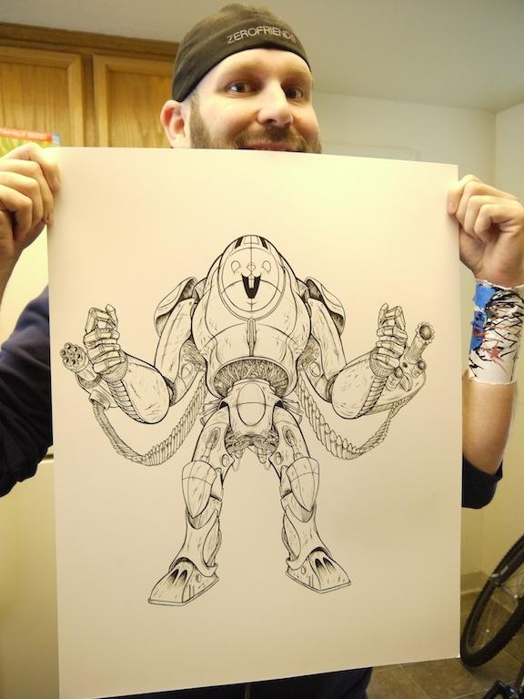 Alex Pardee - Sucker Punch Sketch 1