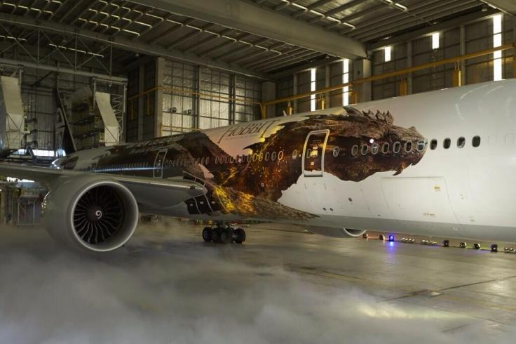 The Hobbit s Villain Smaug Revealed on Air New Zealand