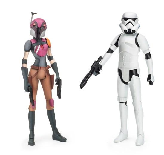 Star Wars toys - Sabine Wren and Stormtrooper