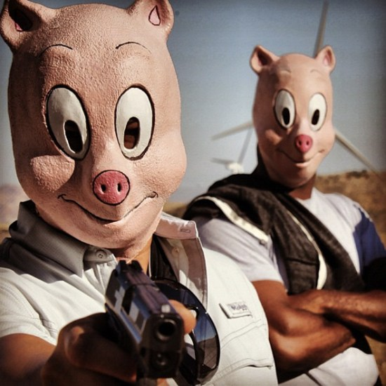 The Hangover Part III - pigs with guns