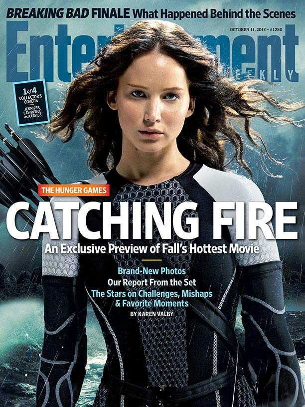 The Hunger Games Catching Fire EW Cover - Katniss (Jennifer Lawrence)