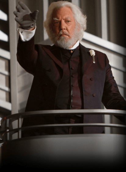 The Hunger Games - Donald Sutherland as President Snow