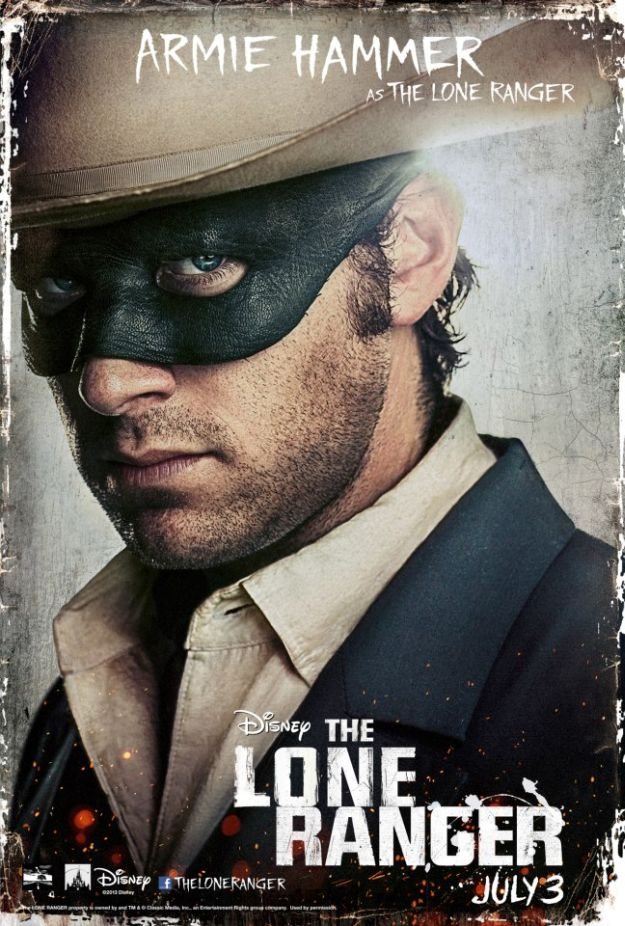 The Lone Ranger - Armie Hammer as The Lone Ranger