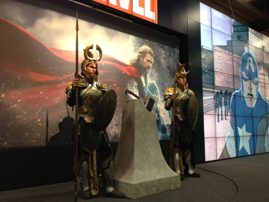 Thor thing at the Marvel booth