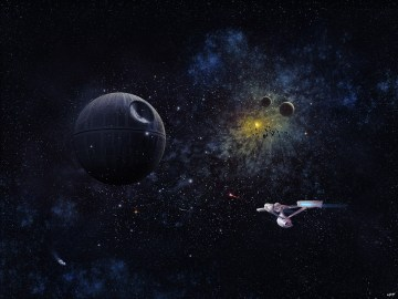 USS Enterprise VS Death Star - Doaly