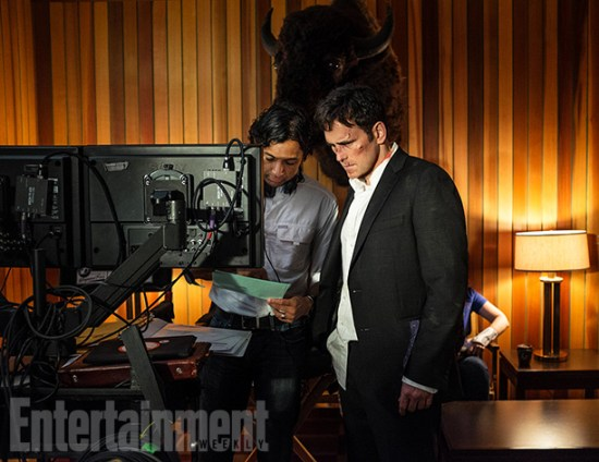 M. Night Shyamalan and Matt Dillon on Wayward Pines