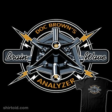 "Back to the Future-inspired ""Doc Brown's Brain Wave Analyzer"" t-shirt"