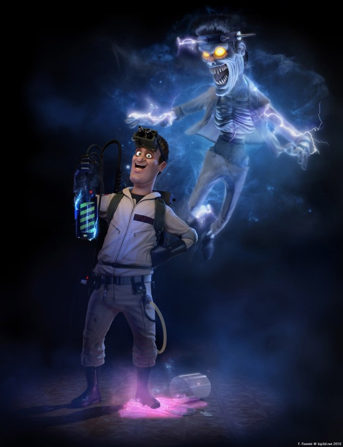CGI Ghostbusters: Ray Stantz with electric Tony Scoleri