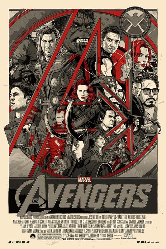 Tyler Stout's The Avengers poster (varient)